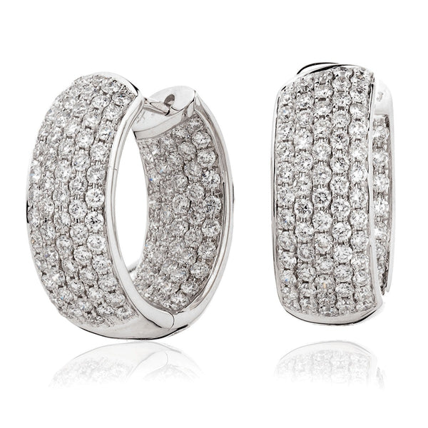 Diamond Hoop Earring Set 2.65ct - Hamilton & Lewis Jewellery