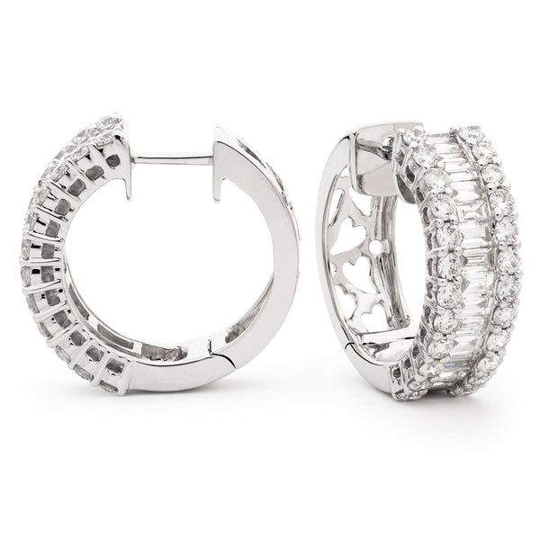 Diamond Hoop Earring Set 0.65ct - 2.50ct - Hamilton & Lewis Jewellery