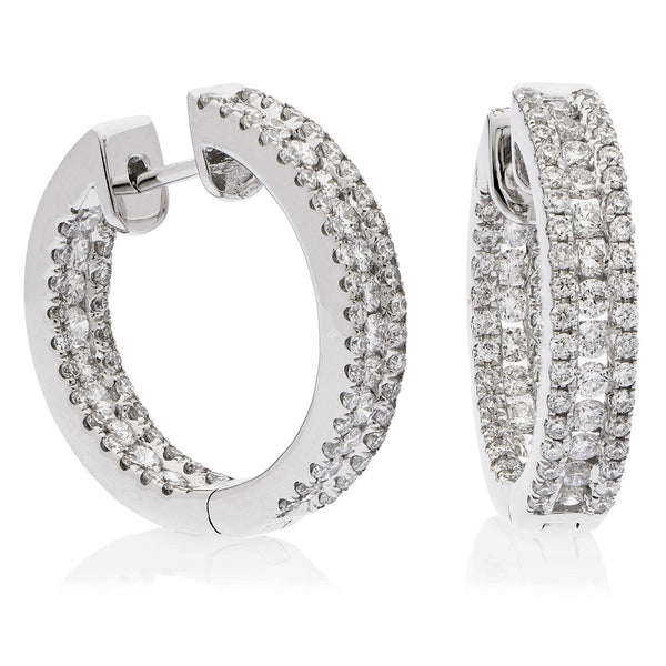 Diamond Hoop Earring Set 1.55ct - Hamilton & Lewis Jewellery