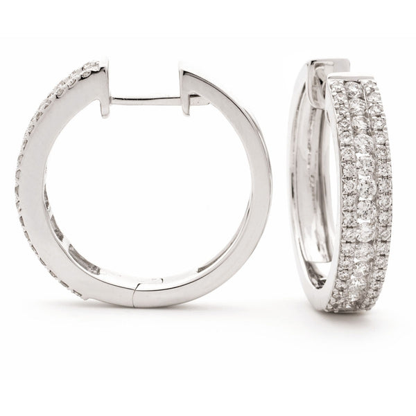 Diamond Hoop Earring Set 0.66ct - Hamilton & Lewis Jewellery