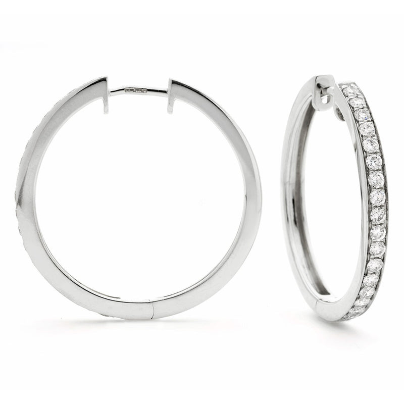 Diamond Hoop Earring Set 0.50ct - Hamilton & Lewis Jewellery