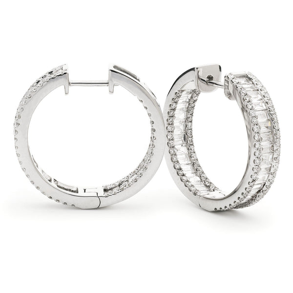 Diamond Hoop Earring Set 1.40ct - 2.65ct - Hamilton & Lewis Jewellery