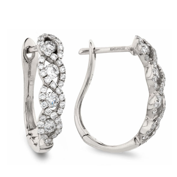 Diamond Hoop Earring Set 0.55ct - Hamilton & Lewis Jewellery