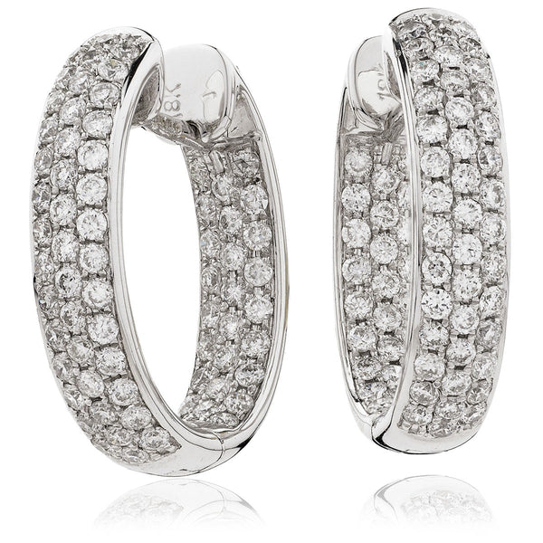 Diamond Hoop Earring Set 1.30ct - Hamilton & Lewis Jewellery
