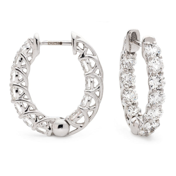 Diamond Hoop Earring Set 1.50ct - 2.50ct - Hamilton & Lewis Jewellery