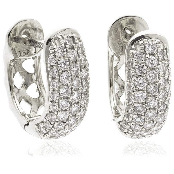 Diamond Hoop Earring Set 0.40ct - Hamilton & Lewis Jewellery