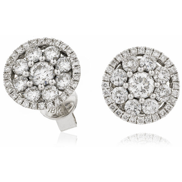 Cluster Earring Set 0.80ct - 1.33ct - Hamilton & Lewis Jewellery