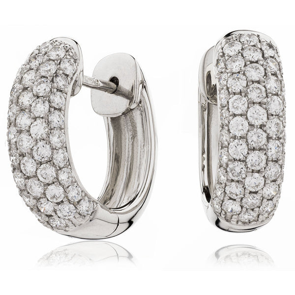 Diamond Hoop Earring Set 0.75ct - 1.75ct - Hamilton & Lewis Jewellery