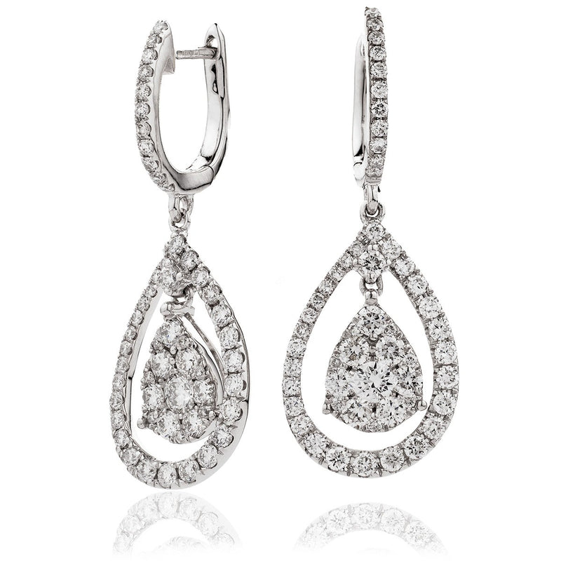 Diamond Drop Earring Set 1.50ct - Hamilton & Lewis Jewellery