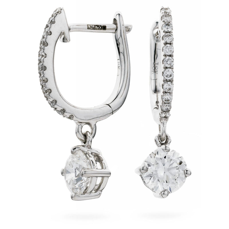 Diamond Drop Earring Set 0.75ct - 1.15ct - Hamilton & Lewis Jewellery