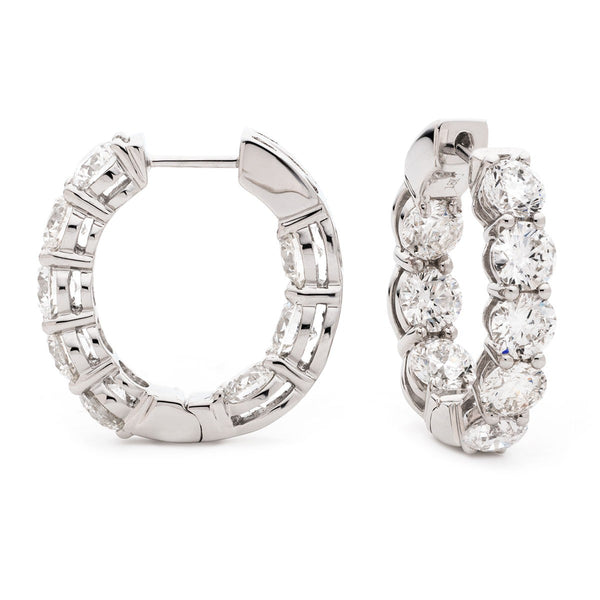 Diamond Hoop Earring Set 1.65ct - 4.50ct - Hamilton & Lewis Jewellery