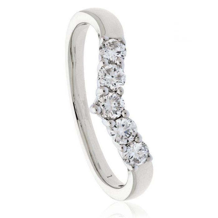 Wishbone Shaped Wedding Ring 0.45ct - Hamilton & Lewis Jewellery