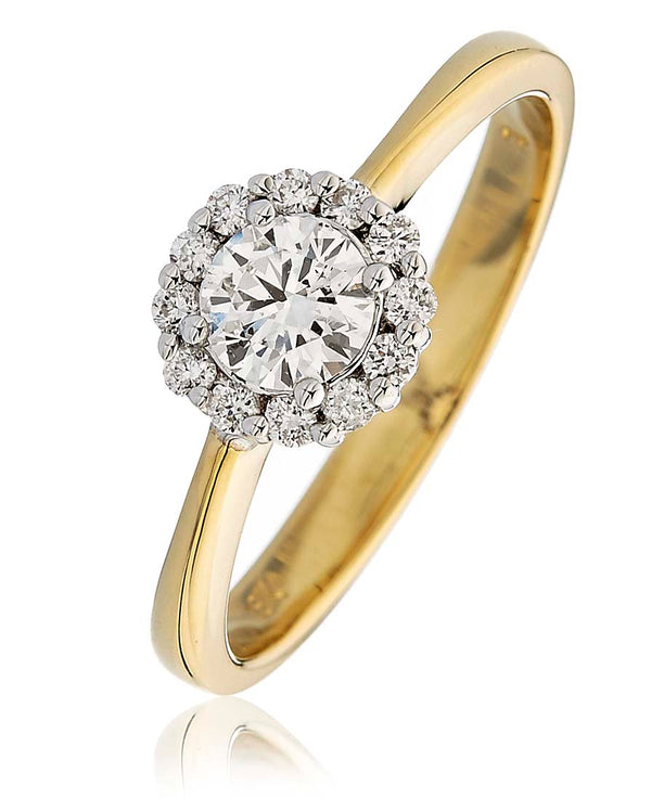 Halo Ring 0.55ct - Hamilton & Lewis Jewellery