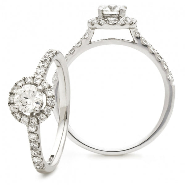 Halo Ring 0.50ct - 1.20ct - Hamilton & Lewis Jewellery