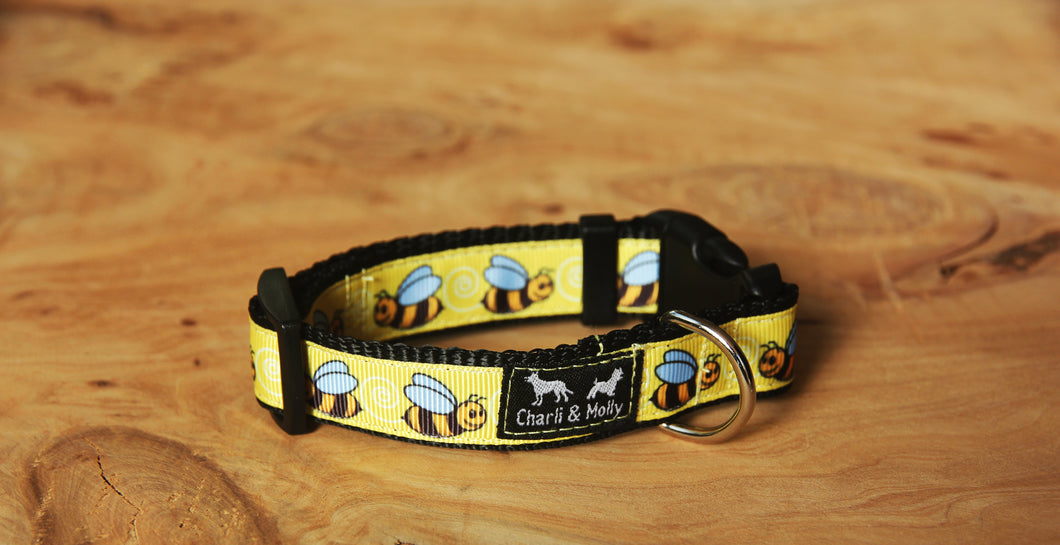 Bumble Bees Dog Collar