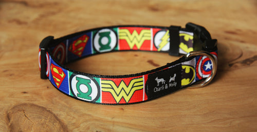 Superhero Logo Dog Collar