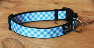 Gingham Dog Collar