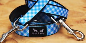 Gingham Dog Dog Lead