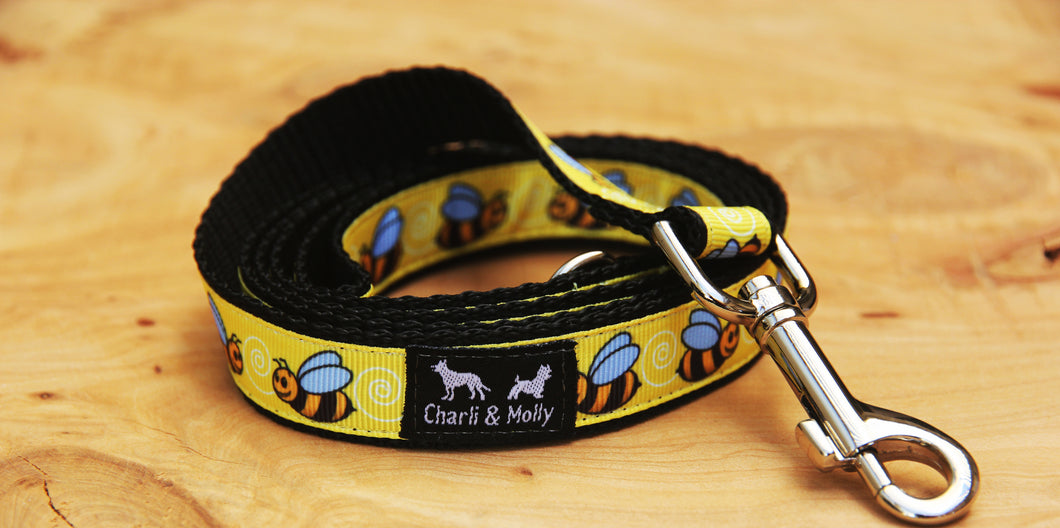 Bumble Bees Dog Lead