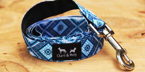 Blue Diamond Dog Lead