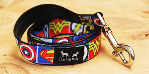 Superhero Logo Dog Lead