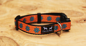 Orange Flower Dog Collar