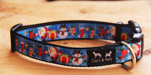 Santa & Friends Christmas Dog Collar