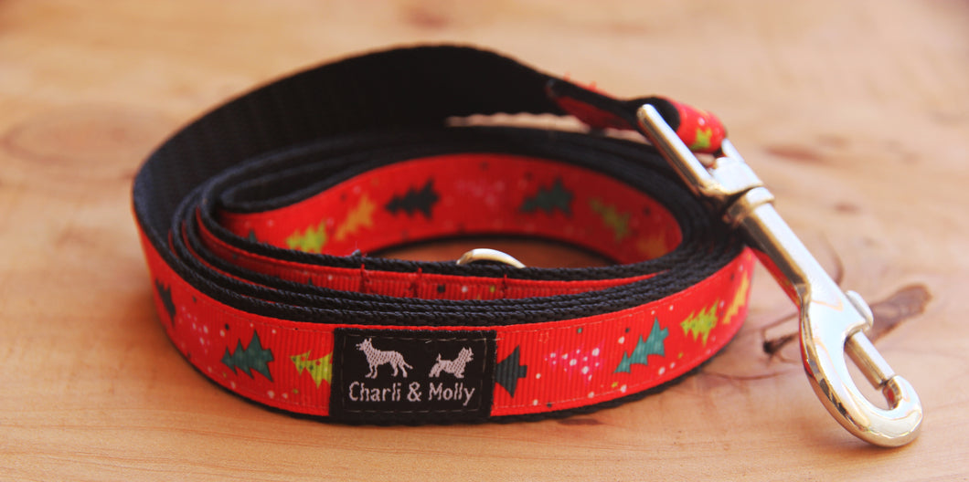 Christmas Tree Mini Dog Lead