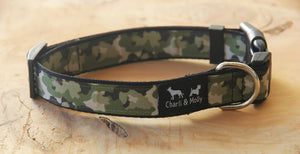 Camo Green Dog Collar