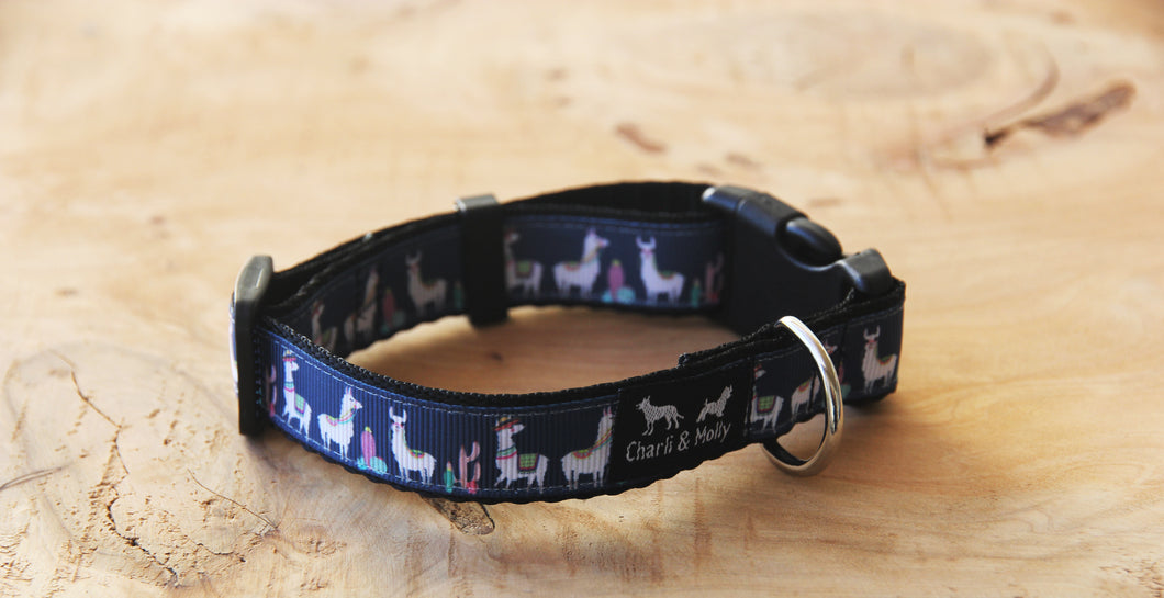 Llama Party Dog Collar