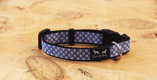 Denim Daisy Dog Collar