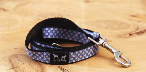 Denim Daisy Dog Lead