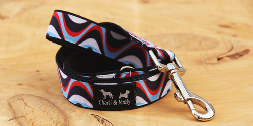 Ocean Waves Dog Lead