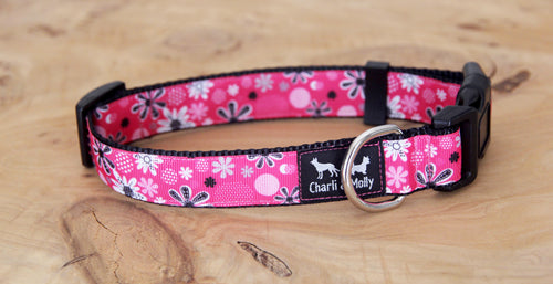 Hot Pink Fink Dog Collar