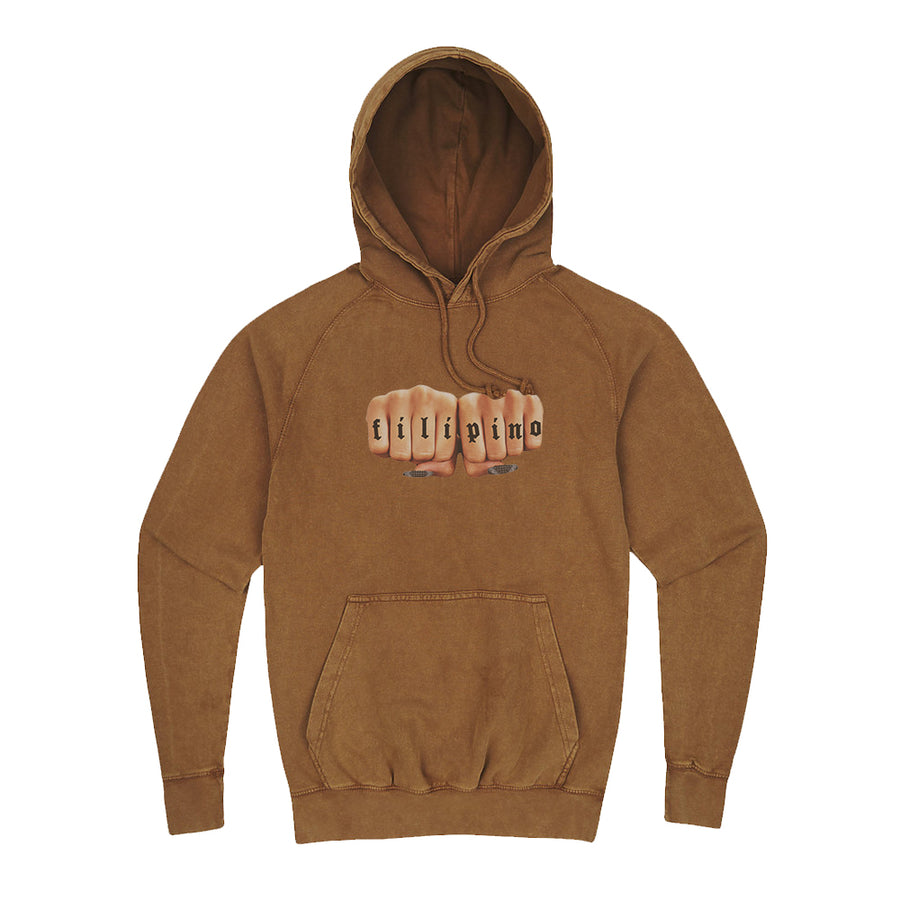 FILIPINO FIST HOODIE - VINTAGE BROWN