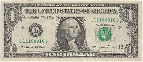 Printed on countlless dollar bills, President Washington is still a popular celebrity in today's world