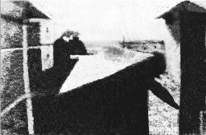 Here is the first photograph ever created.
