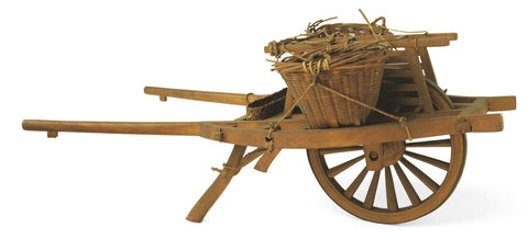 Wheelbarrows were one of the first inventions to travel by wheel and they're still used today!
