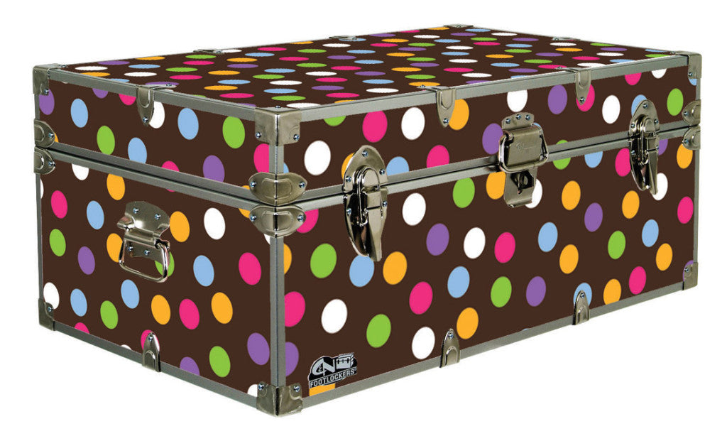 A great camp trunk for camp as well as holiday decoration storage.