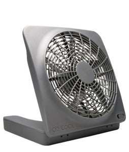 The fan for electricity and battery-operated power.