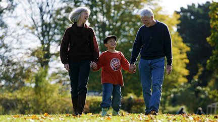 Grandparents are often a kid's favorite role models.