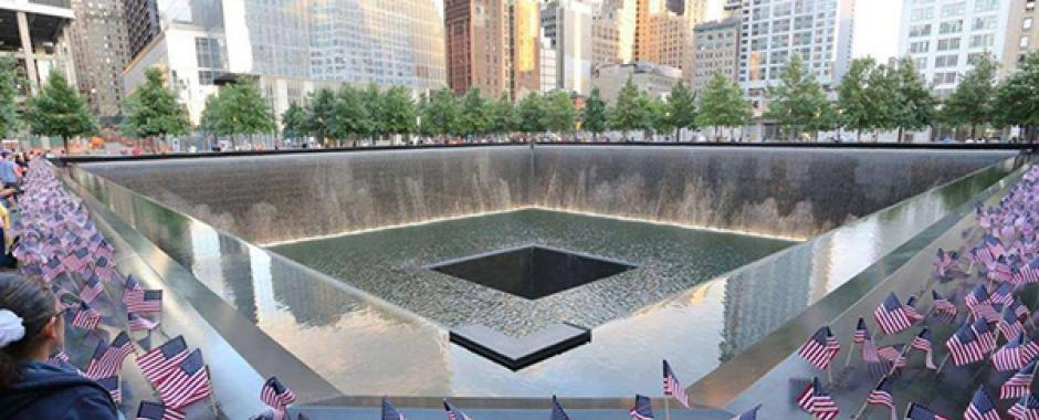 The official remembrance ceremony that happens annually at Ground Zero.