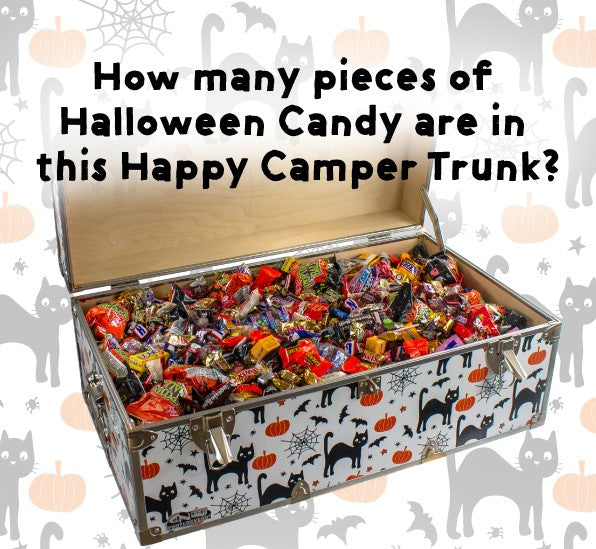 Guess how many pieces of candy are inside this Happy Camper Trunk