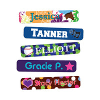 Iron On Clothing Name Labels are a great way to designate your clothing items at school like coats and snowpants!