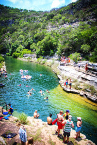 The Blue Hole on the Frio River is a gorgeous summer hangout!