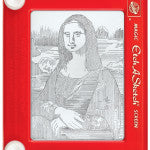 Etch-A-Sketch master Jeff Gagliardi does his etch rendition of the Mona Lisa