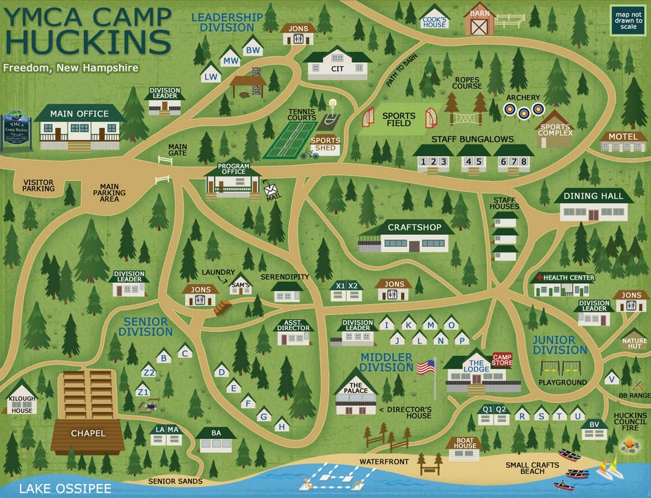 Check out their cool camp map.