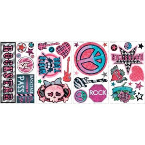 Rockin Roll Girls Trunk Decals