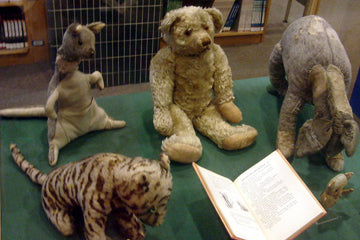 Every one of Christopher Robin's old toys (except for Roo who was lost in the 30's).