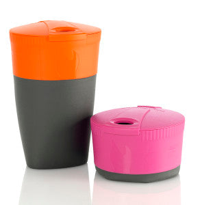 The Pack-up Cup is a convenient accompaniment of the Pack-up Bottle.